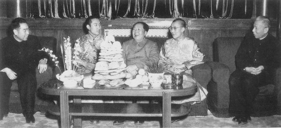 Mao with Lamas in Beijing