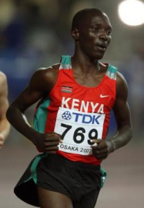 Kenya's Asbel Kiprop in action during his heat of the Men's 1500m Semi-Final.